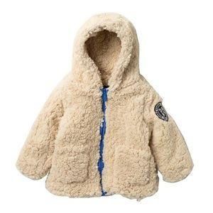 DKNY Faux Shearling Jacket in Oatmeal for Boys